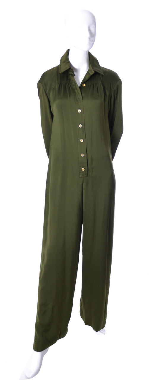 Galanos Vintage Jumpsuit with Corset style Belt - Dressing Vintage