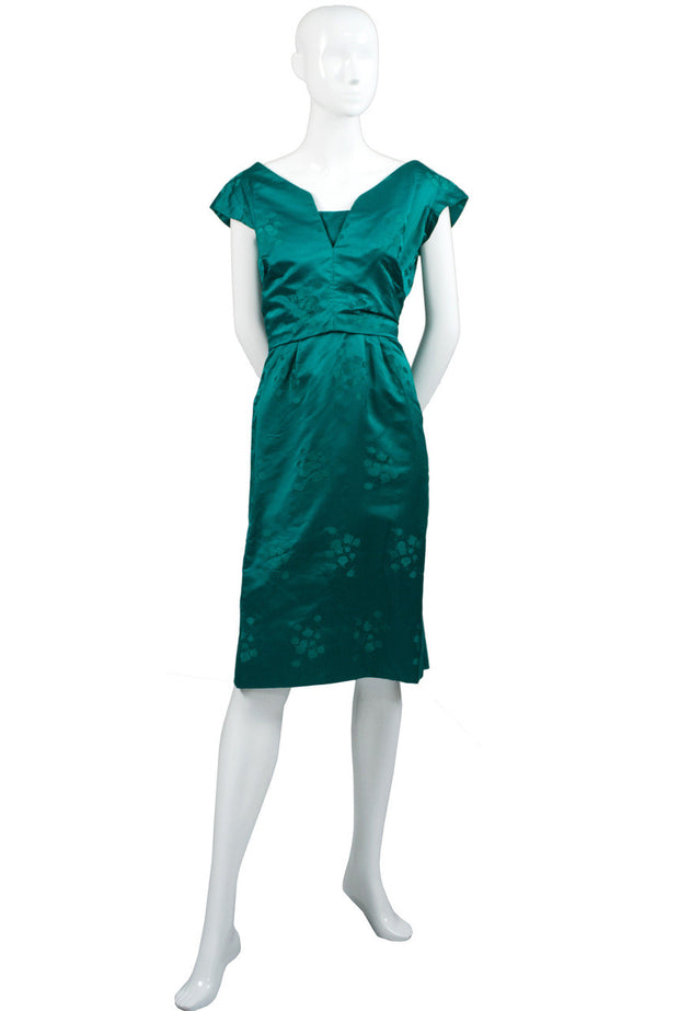 Fabulous 1960s Green Vintage Cocktail Dress - Dressing Vintage