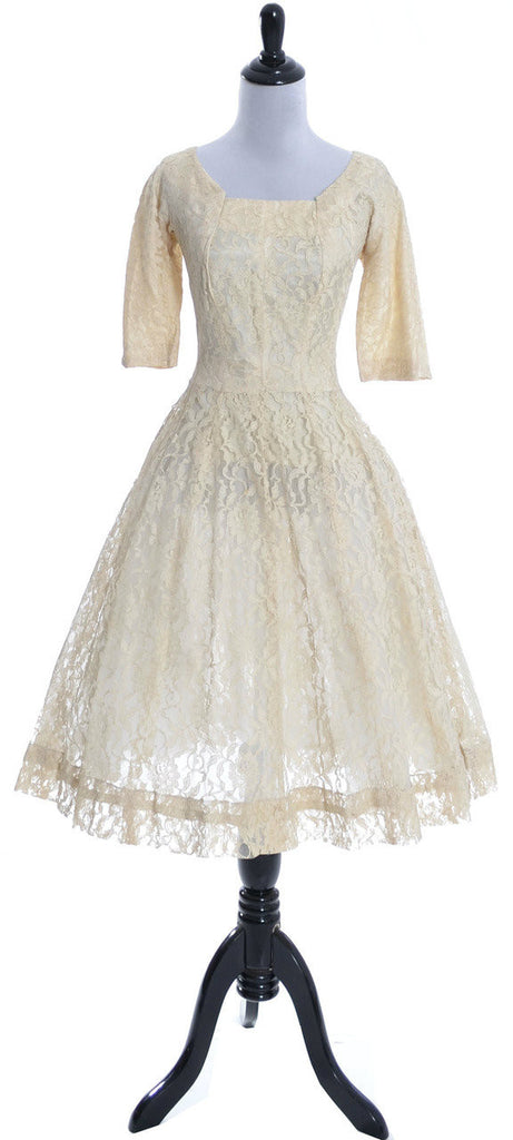 1950s vintage dress Gigi Young Lace