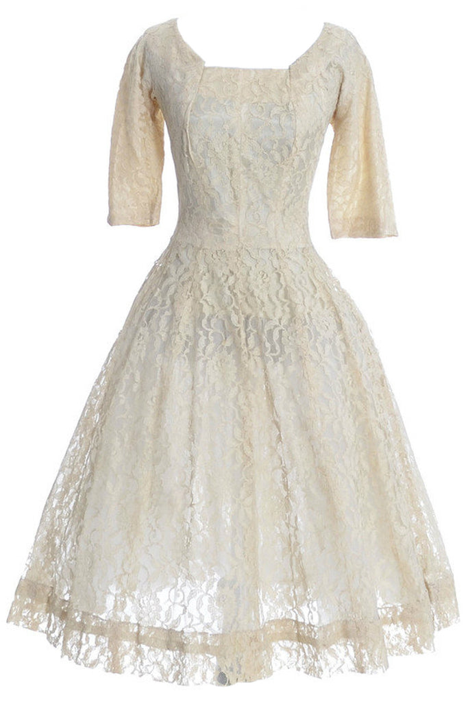 Gigi Young vintage dress 1950\'s lace party or wedding dress ...