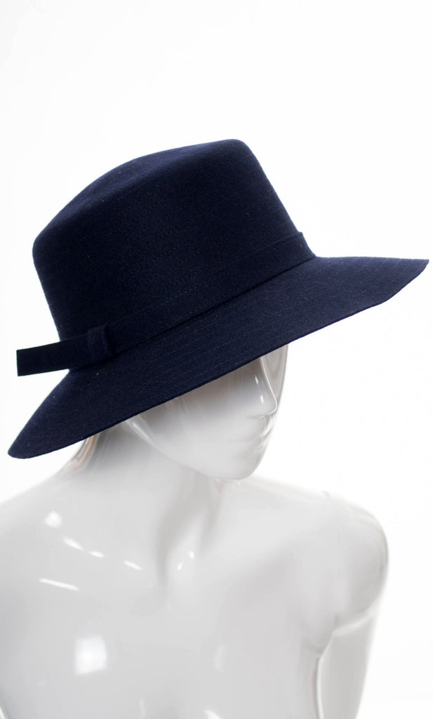 Givenchy designer blue wool hat