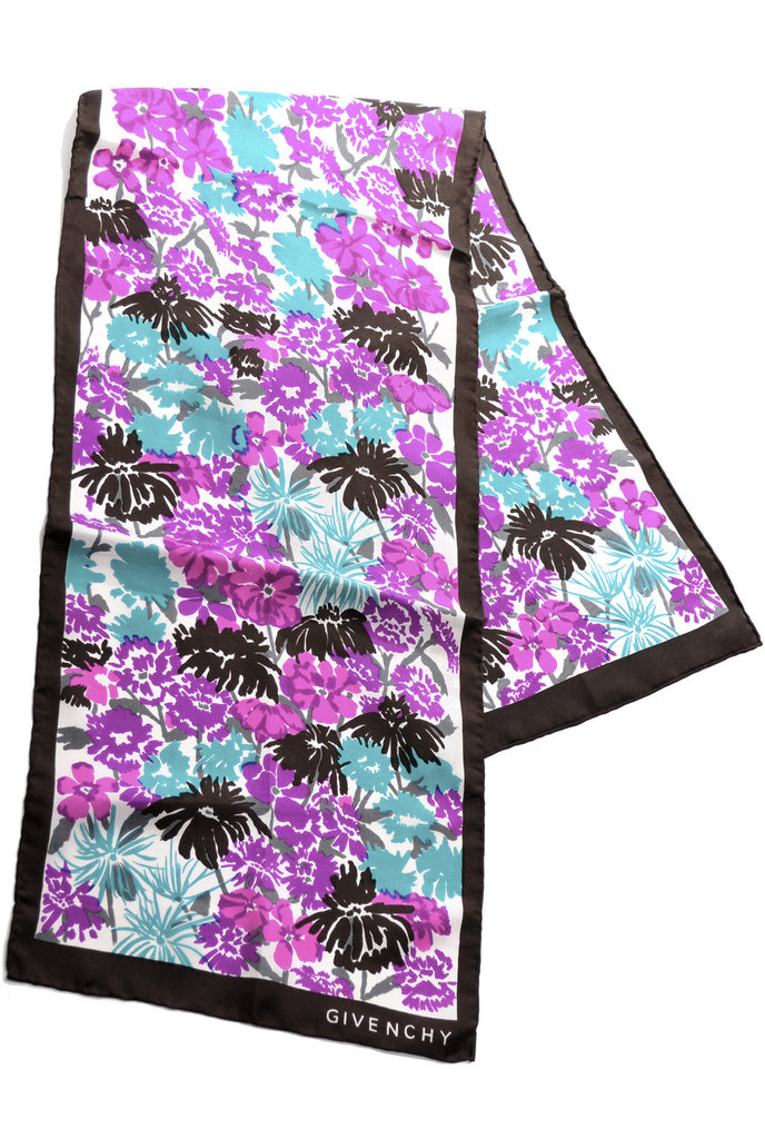 Floral Givenchy silk scarf