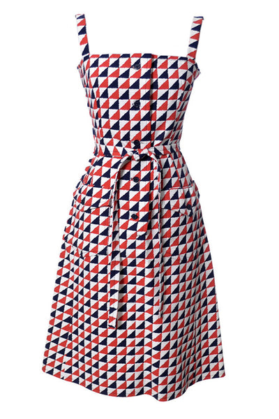 Givenchy Geometric vintage dress Made in France as NEW - Dressing Vintage