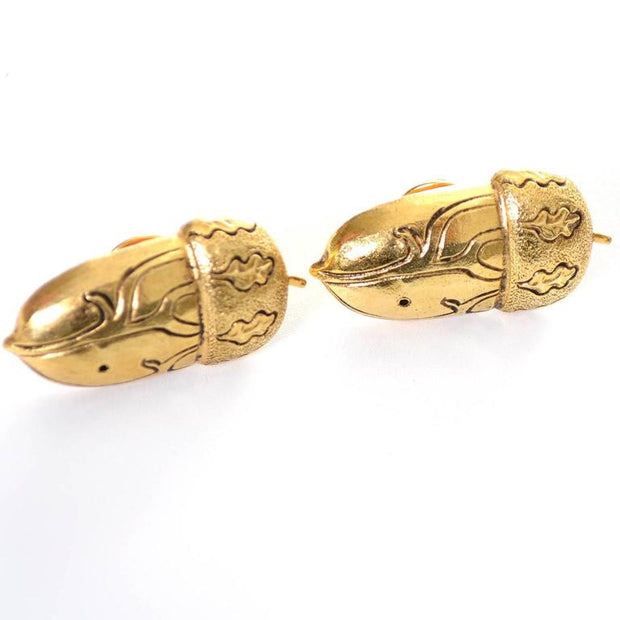 1980's Isabel Canovas Signed Gold Acorn Brooches