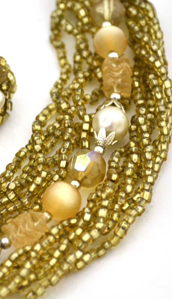 1950s demi parure vintage necklace earrings
