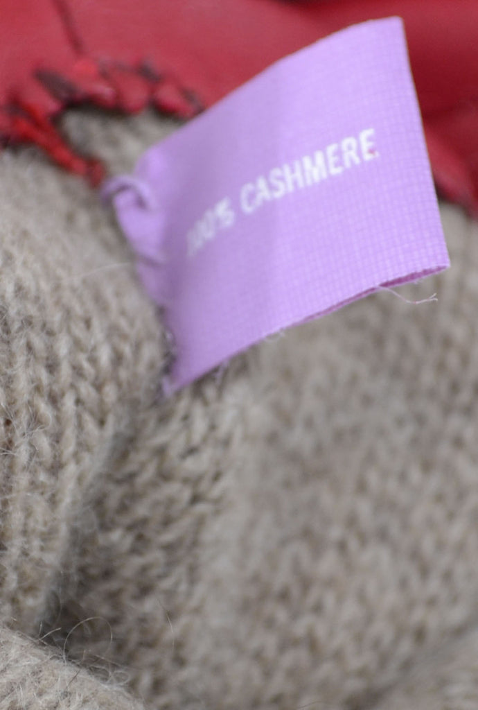 cashmere lined Gloves Grandoe red leather