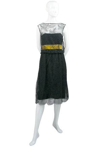 Hannah Troy designer lace silk vintage cocktail dress - Dressing Vintage