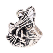 1970s Brutalist Sterling Silver Ring Attr to Metalsmith Lee Peck
