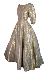 Hattie Carnegie Metallic Dress