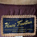 Creation Henri Fensteur Montreal Mastercraft Leather Goods Made in Canada Label