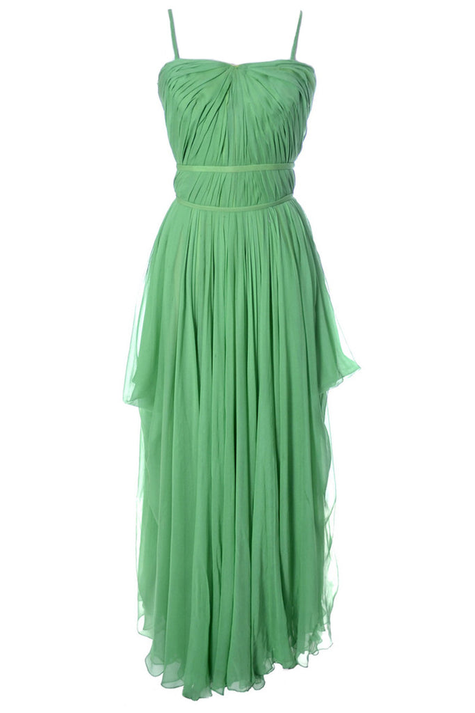 Green Grecian howard Greer silk chiffon