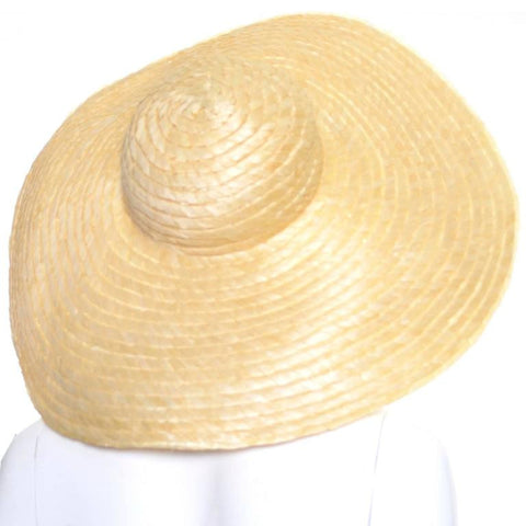1940's vintage woven straw sun hat