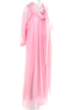 Vintage Pink Peignoir robe nightgown