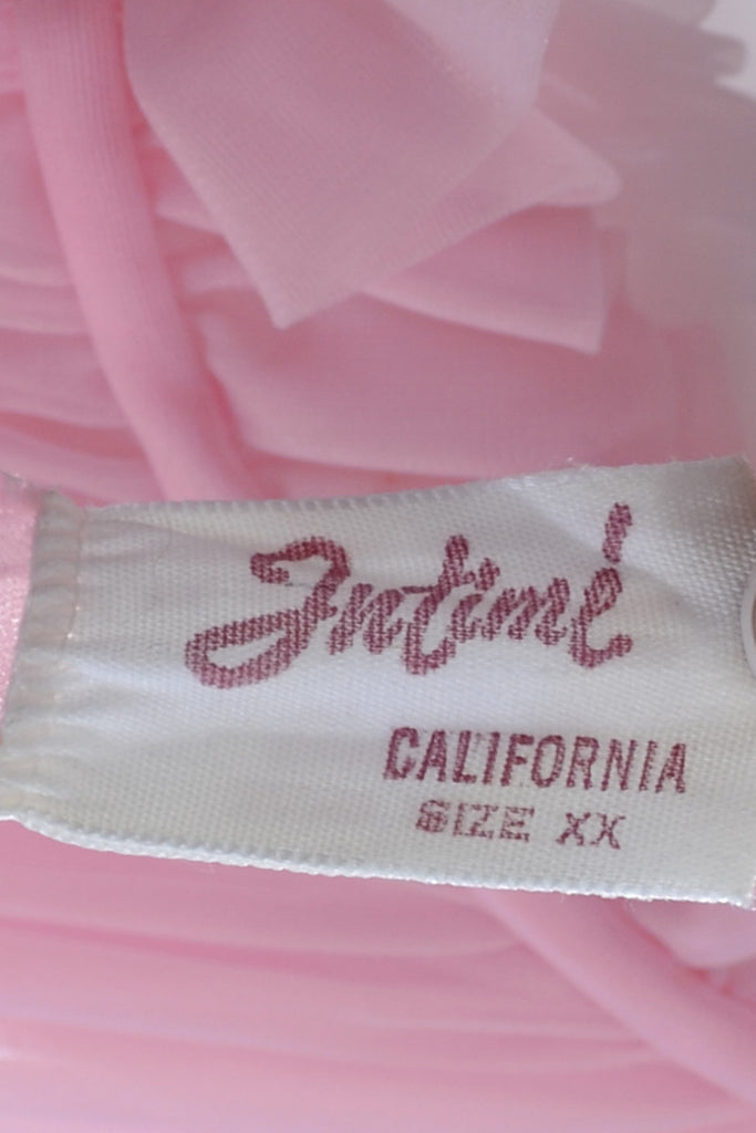 Intime California Vintage Nightgown Robe Peignoir Pink Chiffon