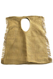 1980's Rare Vintage Issey Miyake Oversized Linen Handbag Made in Japan - Dressing Vintage