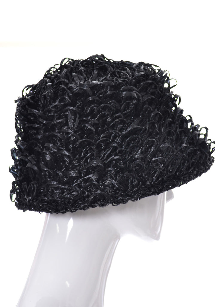 It's a Buddy vintage 60s mod curly raffia hat