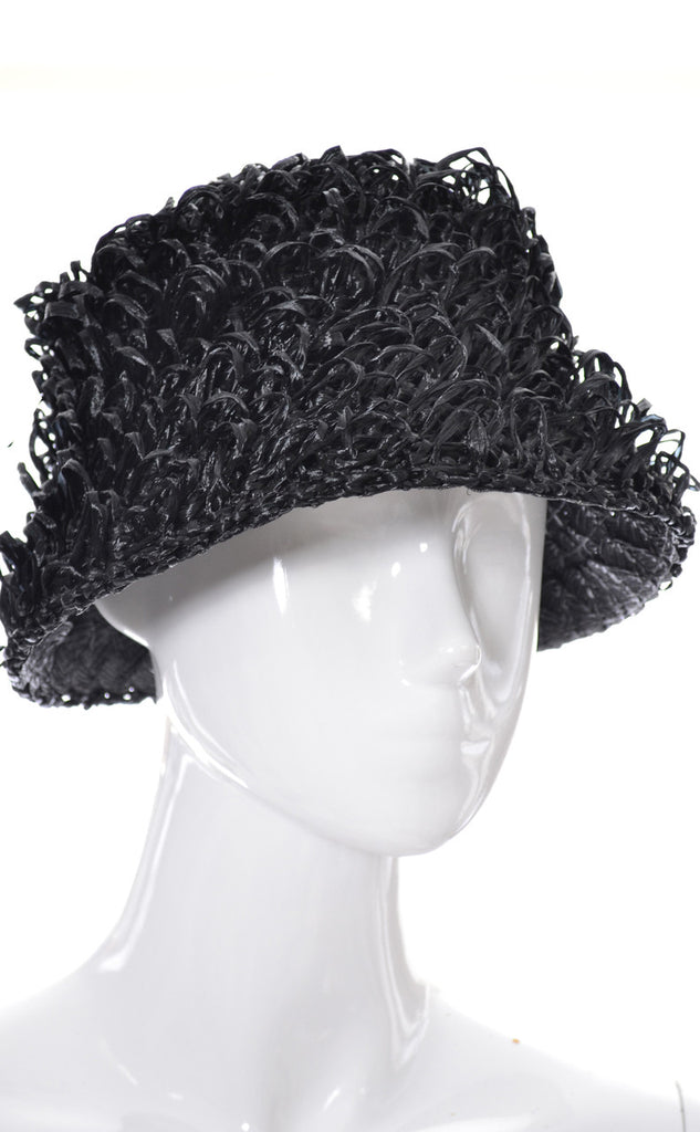 1960s vintage curly raffia It's a Buddy Hat