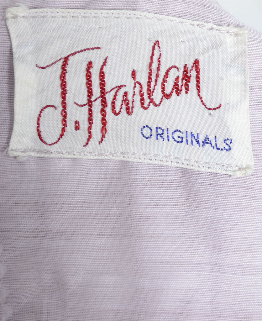 J. Harlan Originals vintage dress 1950's purple with lace