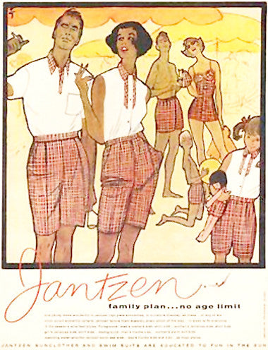 Jantzen plaid swimsuit ad