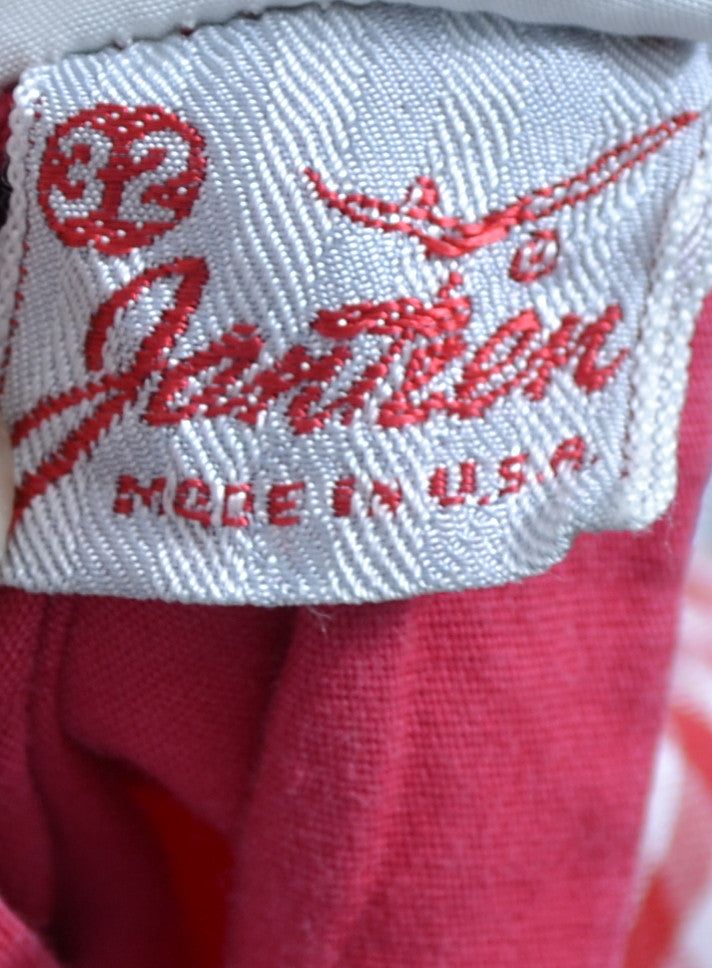 Jantzen USA vintage shorts red gingham