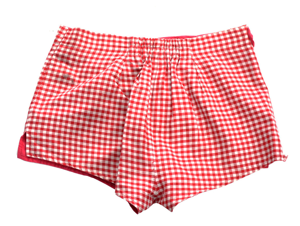 vintage Jantzen shorts red gingham