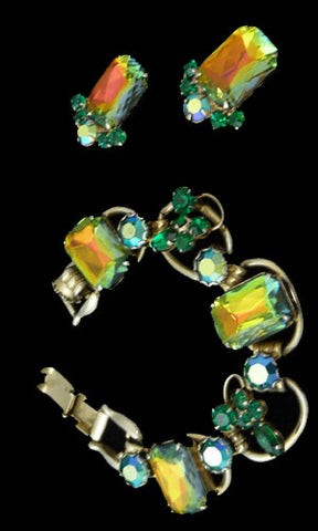 Vintage De lizza and Elster Julianna Watermelon bracelet and earrings - Dressing Vintage