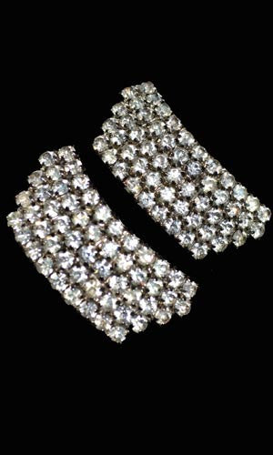Vintage rhinestone shoe clips buckles wedding shoes