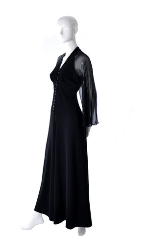 Vintage Jumpsuit evening gown dress