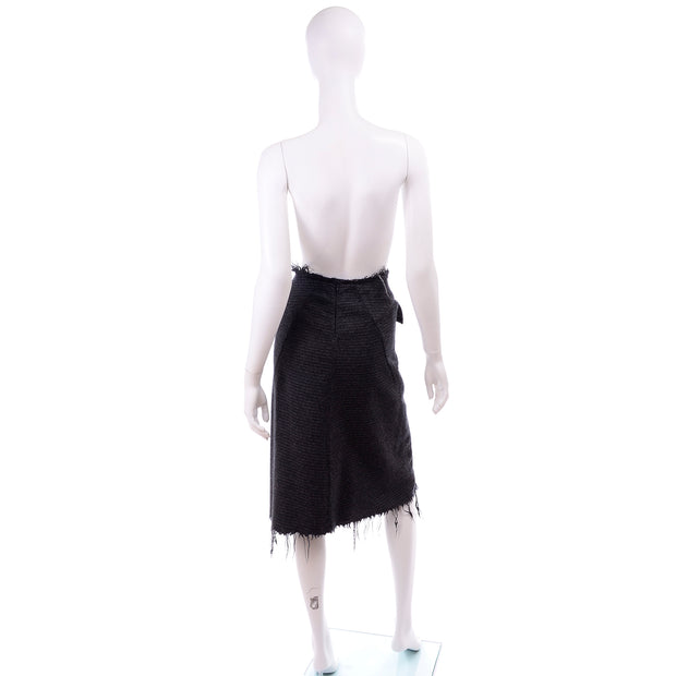 F/W 2003 Junya Watanabe for Comme des Garcons Gray Wool Pinstripe Skirt