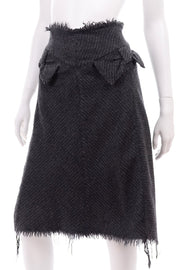Fall Winter 2003 Junya Watanabe for Comme des Garcon Gray Wool Pinstripe Skirt