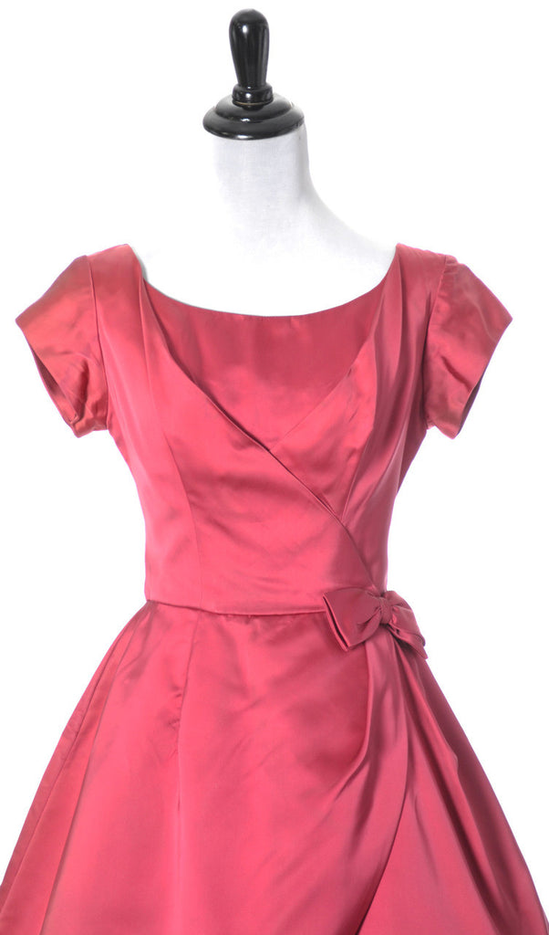 1950s Kay Selig vintage dress satin