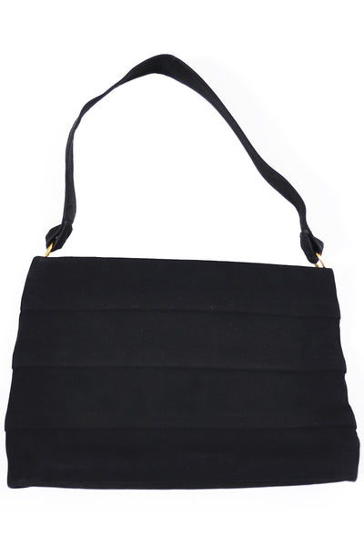 Koret black Suede Koretolope pleated vintage handbag - Dressing Vintage