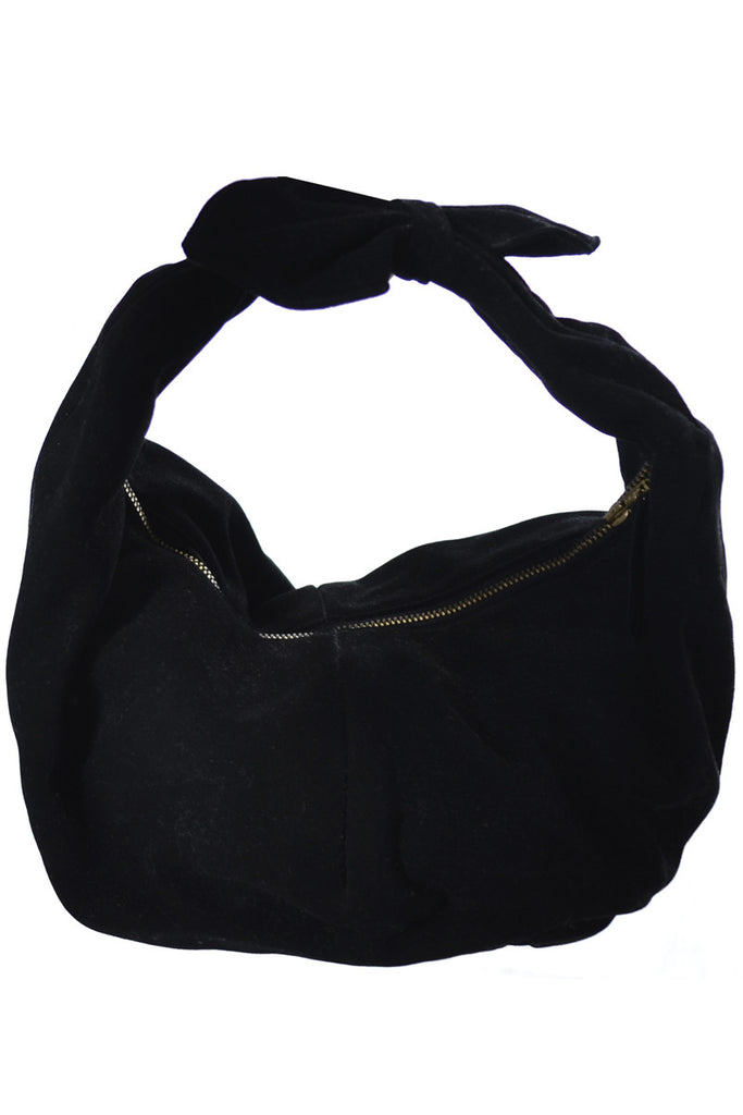 Koret Koretolope black suede vintage handbag at Dressing Vintage
