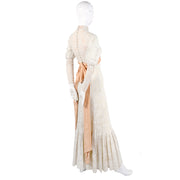 Edwardian vintage wedding dress long sleeve