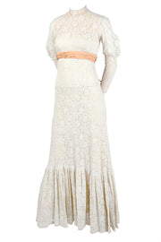 Edwardian lace wedding dress