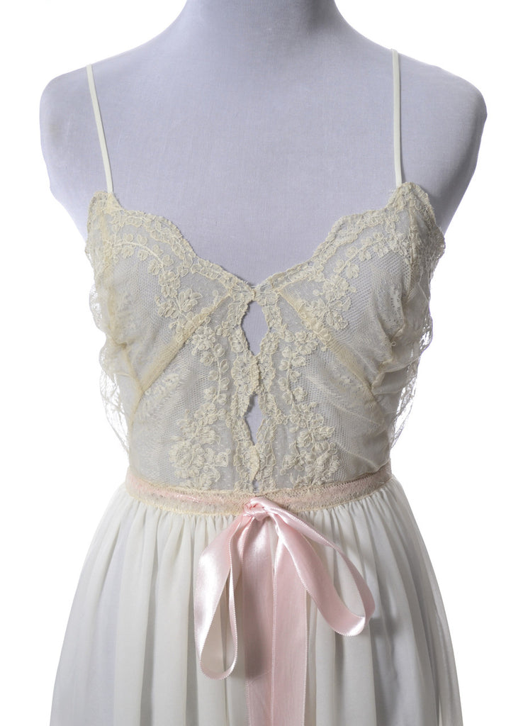 1950s Vintage Nightgown with Sheer Lace Bodice Rare Iris Lingerie Co.