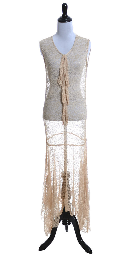 1930s bias cut lace dress vintage wedding gown