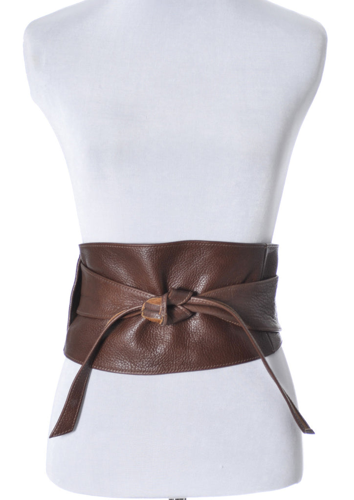 Leather Obi style belt from Brave Canada - Dressing Vintage