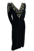Lillie Rubin Vintage Dress 1980s Beaded Knit