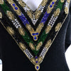 Beaded Lillie Rubin Vintage Dress 1980s glam