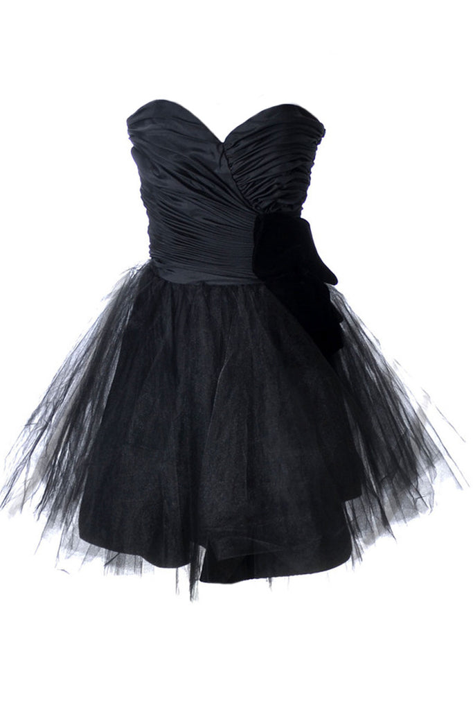 Lillie Rubin 1980\'s strapless vintage party dress with tulle and ...