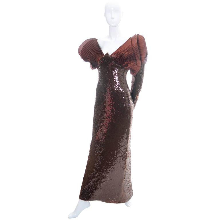Loris Azzaro Vintage Dress Avant Garde 1980s Statement Evening Gown