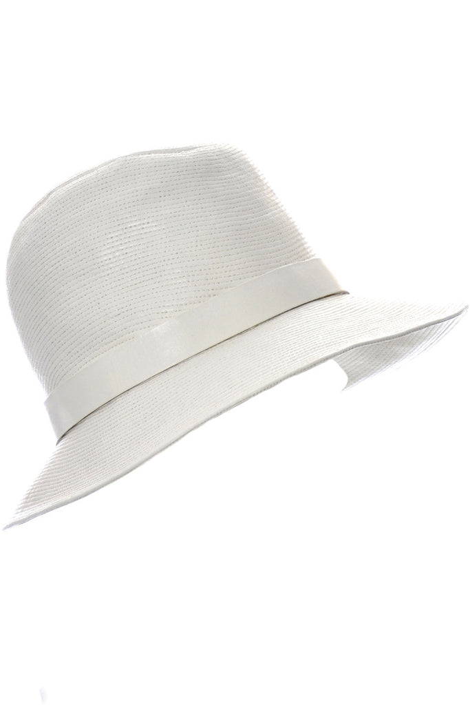 Lord and Taylor white leather hat 1960s