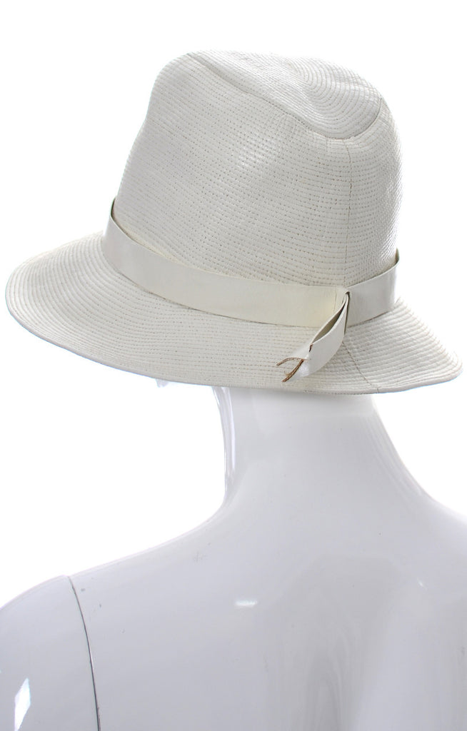 1960s vintage white leather Lord and Taylor France hat
