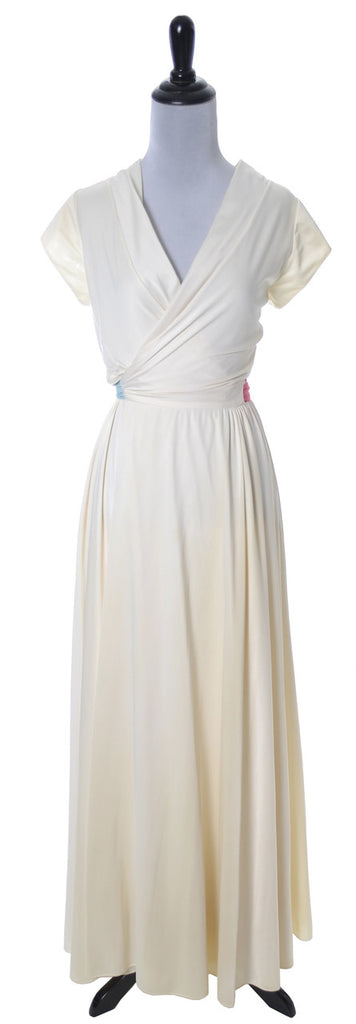 Lucie Ann Beverly Hills vintage ivory dress