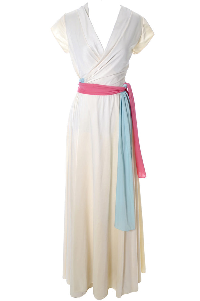 Lucie Ann hostess gown with sash tie