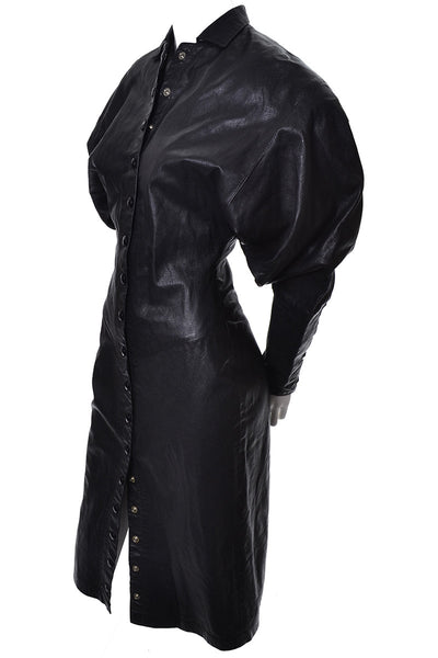 Avant garde Vintage leather dress