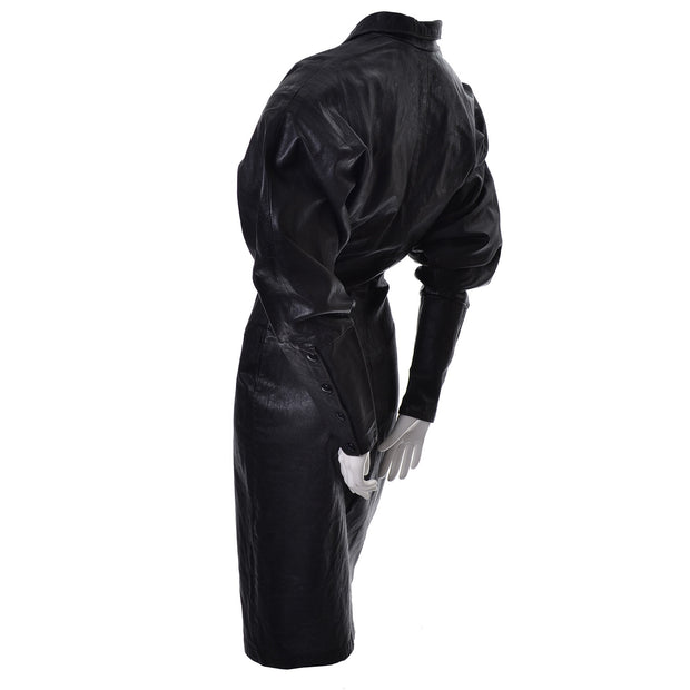 Avant garde Vintage leather dress 1980s