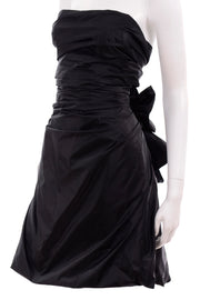 Marc Jacobs Black Taffeta Dress