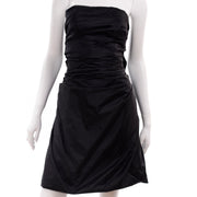 Marc Jacobs black taffeta evening dress